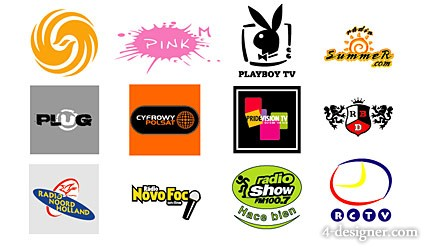 Featured foreign media vector LOGO material  4