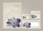 Flower the minimalist VI template vector material  3