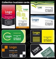Foreign card template vector material  2