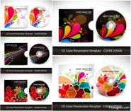 Gorgeous; colorful patterns CD and packaging   Vector
