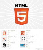 Html5 newly released logo vector and png material