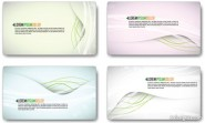 In refreshing dynamic business card template 01   vector material