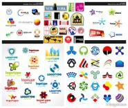 LOGO graphic set of vector material