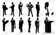 Male manager vector material