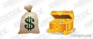 Purse with the cash box vector material