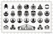 Real estate icon vector material 02   Vector