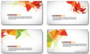 Refreshing dynamic business card template 03   vector material