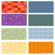 The 6 paragraph cute pattern tiled background shaped vector material