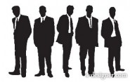 The professional managers silhouette Vector