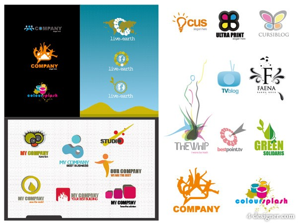 The several logo template vector material