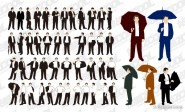 Various actions of business men vector material