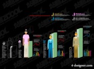 Various types of statistical chart vector material  35