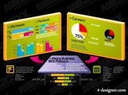 Various types of statistical charts vector material  31