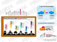 Various types of statistical charts vector material  5