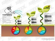 Various types of statistical charts vector material  6