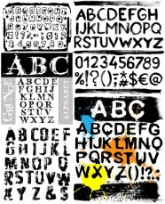 Vector ink letters of the alphabet   Vector