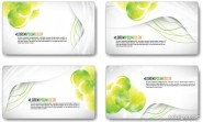 Vector refreshing dynamic business card template 02   vector material