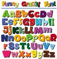 cartoon the POP letters of the alphabet   Vector