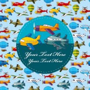 Cartoon airplane collection   Vector
