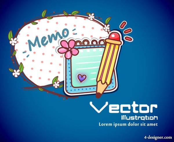 Cartoon label background 01   vector material