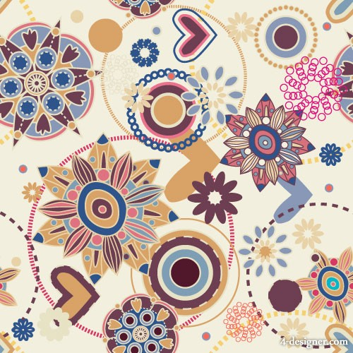 Vector cartoon patterns pattern 04   Vector