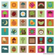 The cute graphics vector material