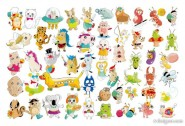 Variety of super cute animal vector material