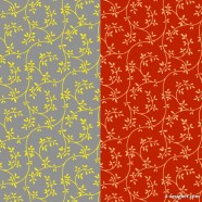 2 color leaves pattern background vector material
