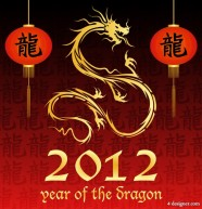 2012 Year of the Dragon material 03   vector material