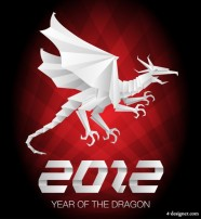 2012 Year of the Dragon material 04   vector material