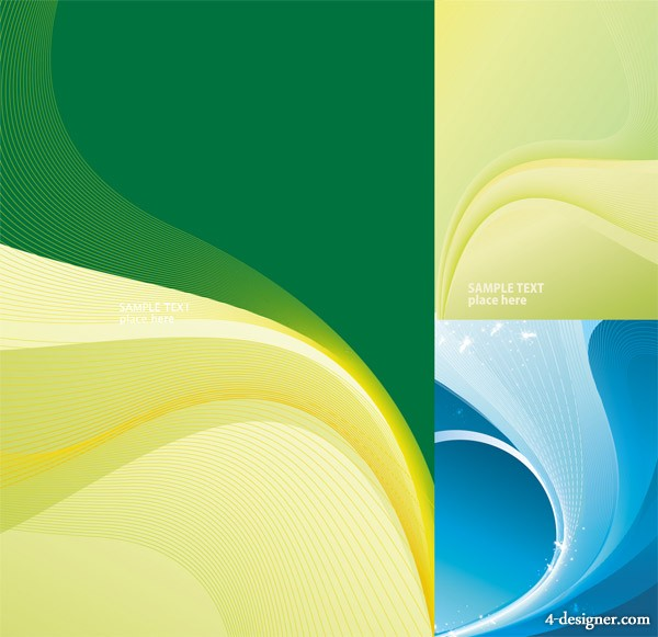 3, dynamic lines background vector