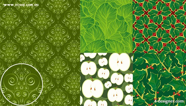 5 green background Vector material