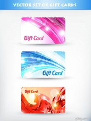 A brilliant gift card template 03   vector material