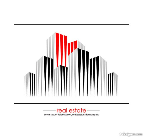 Abstract commercial building 05   Vector