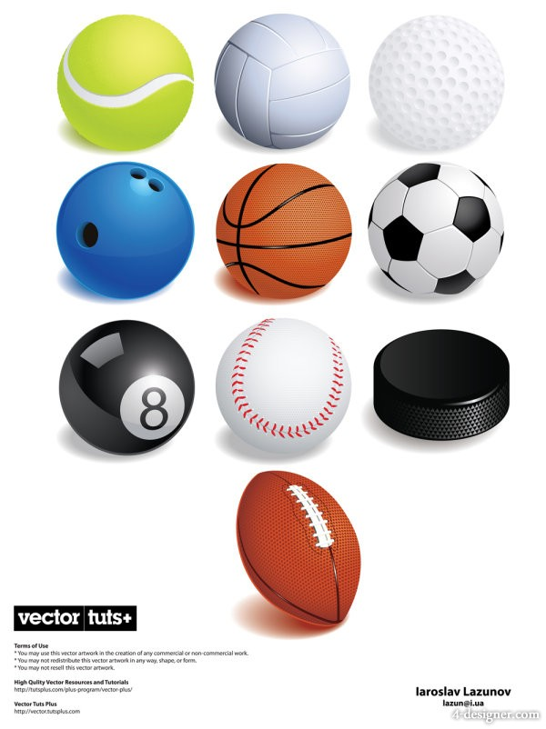 All kinds of ball material Vector   Vector