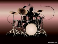 Beautiful drum kit material 02   vector material
