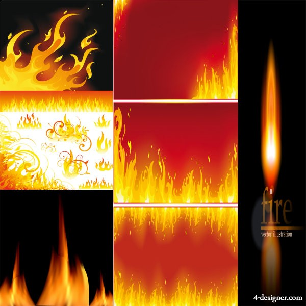 Beautiful flame vector material