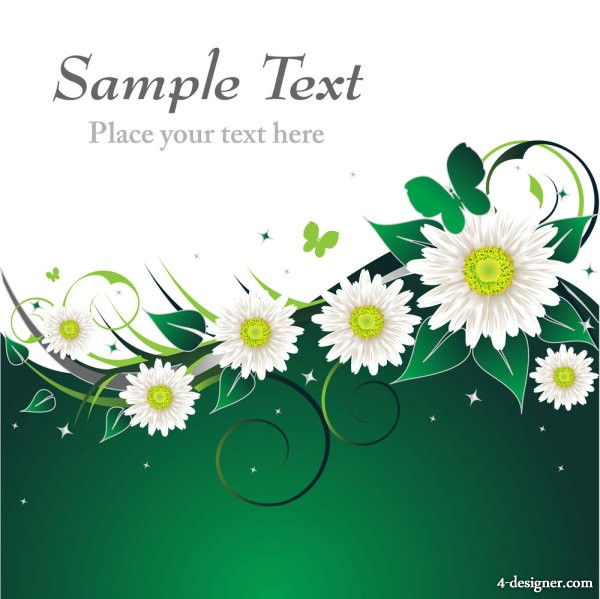Beautiful floral retro background 02   vector material