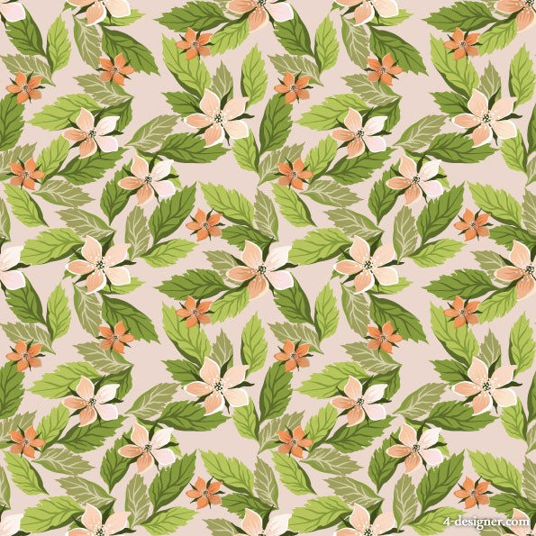 Beautiful flowers background vector material  1