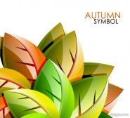 Beautiful leaf background 02   vector material
