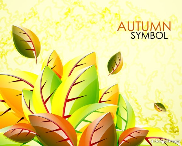 Beautiful leaf background 03   vector material