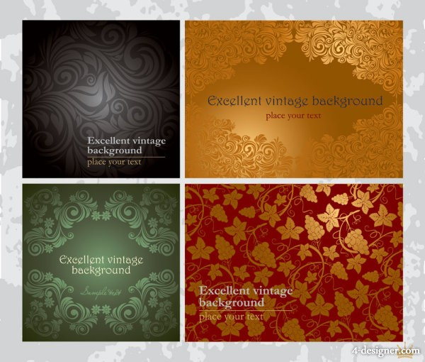 Beautiful pattern background 01   vector material