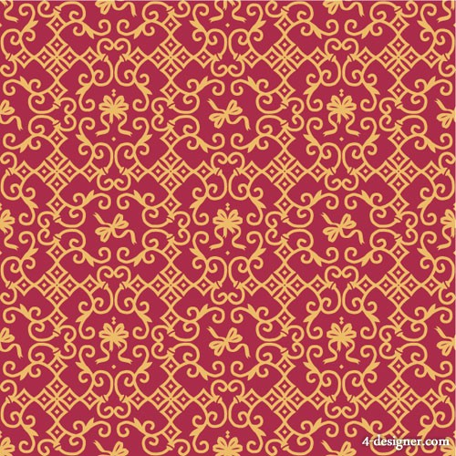 Beautiful pattern background pattern 5 Vector   Vector