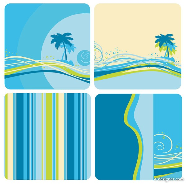 Blue green color background vector material