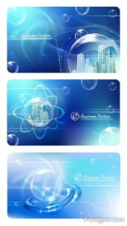 Blue high tech style vector material
