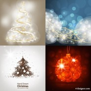 Bright shining Christmas background   Vector