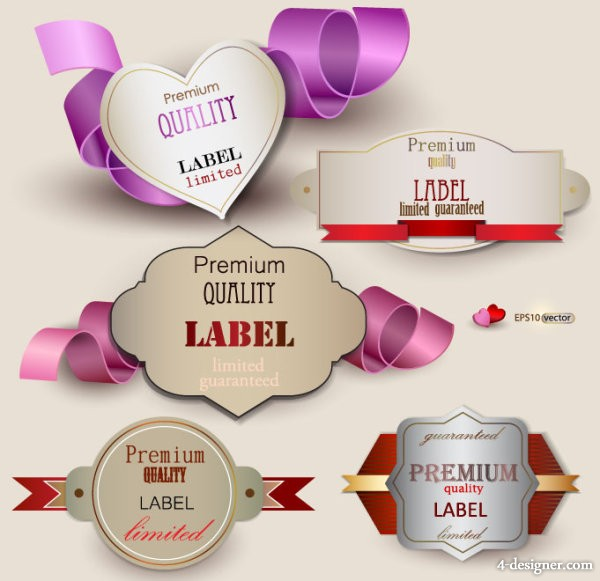 Classic sweet label 02   vector material