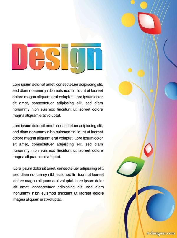 Colorful advertising posters 02   vector material