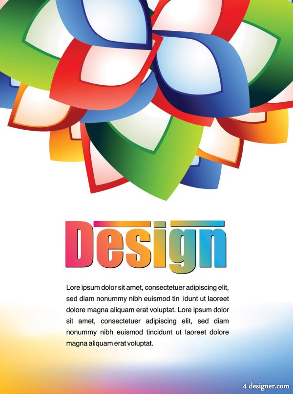 Colorful advertising posters 03   vector material