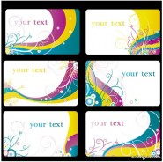 Colorful card background vector material